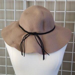 Boho Festival Felt Wide Brim Hat